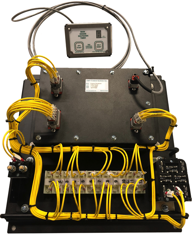EST wired up and ready to go, designed for applications where the main locomotive is supported by an APU, avoid waste of main engine's power.