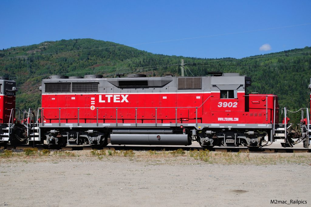 GP39 red, virginia mountains in the background, #3902 LTEX